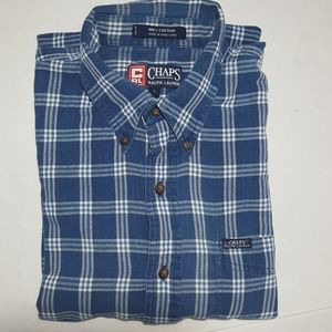 Champs 100% Cotton Blue & White Plaid Shirt